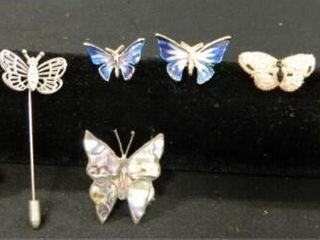 Butterfly Pins  Assorted   8