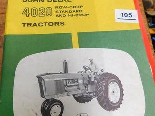 John Deere 4020 manual and 2 International