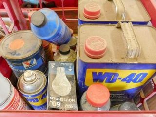 plastic container of WD 40 lubricant partial