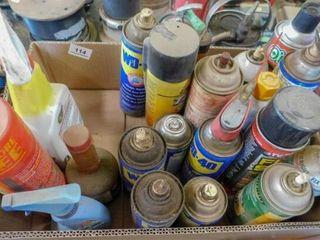 box of misc lubricatants