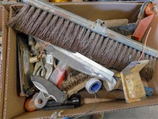 box of wire brushes  etc