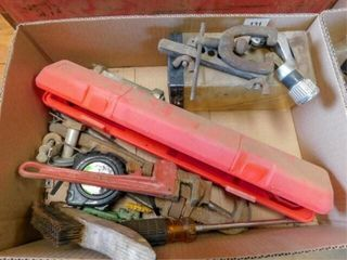 box of flairing tools  torch wrench  pipe