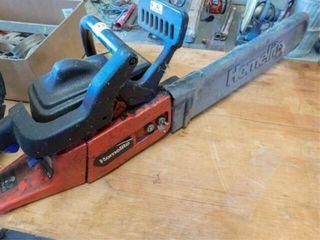 Homelite chain saw  pulls through
