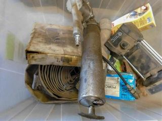 container of air grease gun  electric fence
