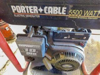 Porter Cable 5500 watt gas generator  gas