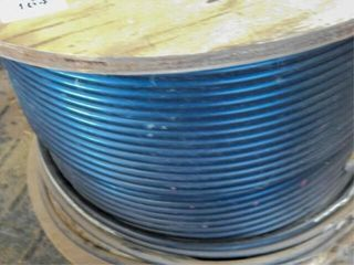 Spool of plastic coated internet cable