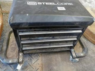 Steel Core roller seat with tool drawers