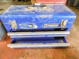 Kobalt steel tool box with 2 trays