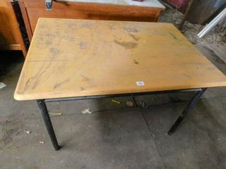 wood table  46  long  32  wide  30  tall