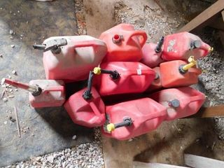 Assorted Gas Containers