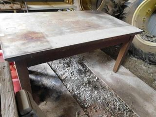Wood table 60 x34 x30 5 T