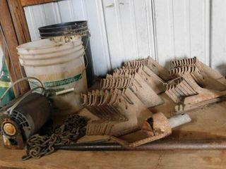 Shelf od Shovels  Sweeps  Tarps  Cable  Etc