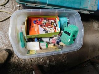 3 Containers of Painting Supplies