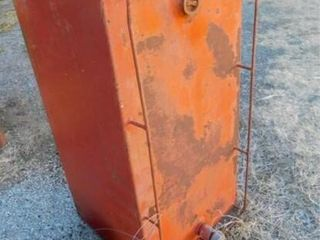 Red 125 gallon diesel fuel tank  rectangle