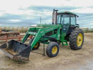 1980 JD 4440 tractor  Koyker K5 ldr  bucket
