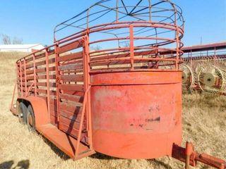 Bumper pull 16 x5  tandem axle stock trailer