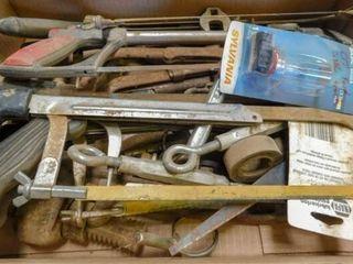 box of hack saws  soldering gun