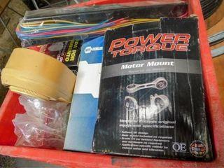 Plastic crate of lights  ballis