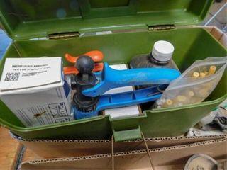 box of vet supplies
