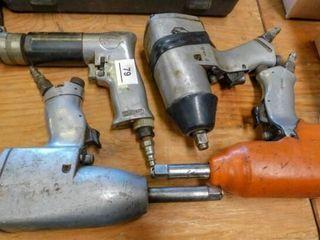 2 air tools  impact and drill