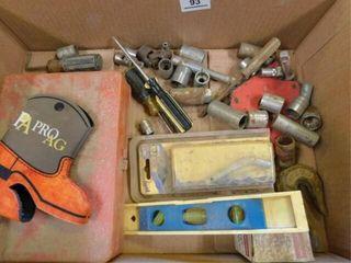 Box of sockets  O ring set  chain hook  etc