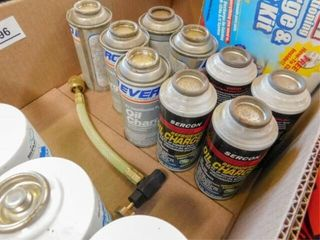 box of Floron 134A refrigerant  oil charge  misc