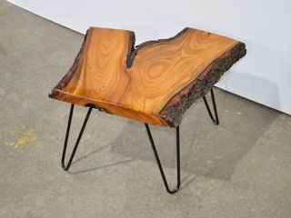 live Edge Side Table  18  x 18  x 14 h