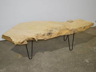 live Edge Coffee Table  Natural  59  x 21  x 16 h