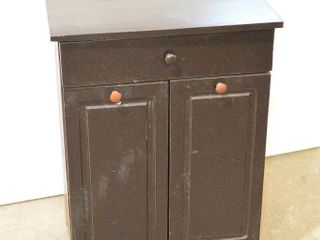 Wooden Cabinet with Garbage Pails