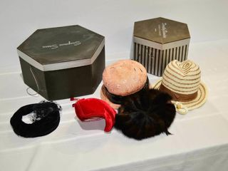 Grp  of ladies Hats and Hat Boxes