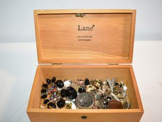 lane Cedar Chest Box with Contents
