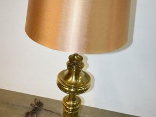 Stiffel Signed Brass Table lamp with Shade