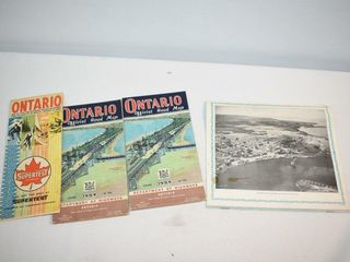 1950 s little Current Ont Brochure   Ont Road Maps