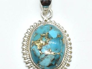 Silver Copper Muhave Turquoise