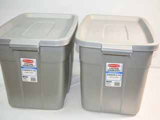 2  Rubbermaid Roughneck Storage Containers