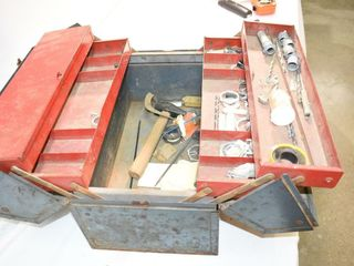 Metal Toolbox with Content
