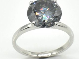 Silver Certified Grey Moissanite  Round 9 5