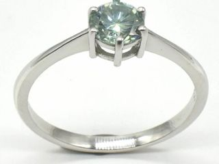 Silver Blue Moissanite  Round 6 Mm 2 2ct