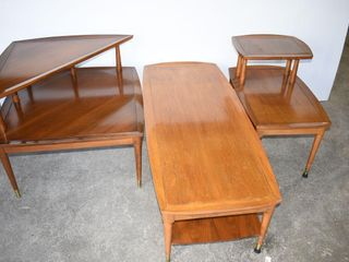 Set of  3  Mid Century Modern Table End Tables