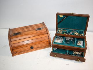 Jewelry Box with Contents and Bread Box