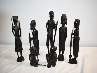 Carved Wooden Figurines
