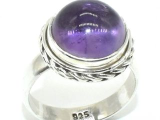 Silver Amethyst 5 5ct  Ring  weight 5 5g