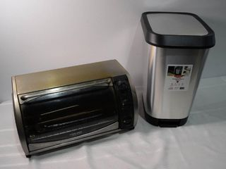Waste Basket and B D Toaster Oven