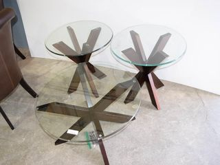 3 Glass Top Coffee Tables