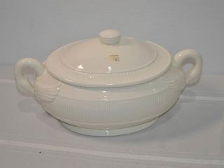 Fitz and Floyd 1985 White Tureen with lid