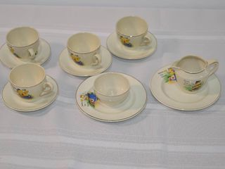 WWII Child s 12pc  Tea Set   made in England
