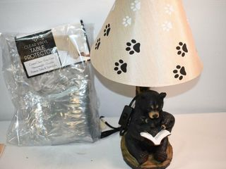Bear lamp and Vinyl Table Cover