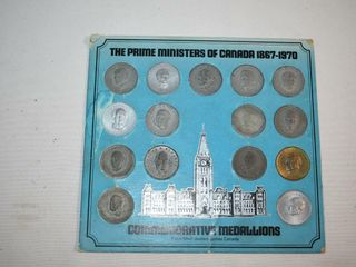 Prime Ministers of Canada 1867 1970 Medallions