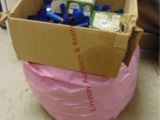 Bag   box of empty shotgun hulls