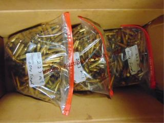 3 bags of  approx 1000 total  223 military brass